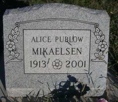 PUBLOW MIKAELSEN, ALICE - Dawes County, Nebraska   ALICE PUBLOW MIKAELSEN - Nebraska Gravestone Photos