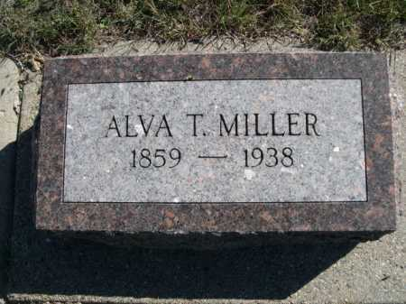MILLER, ALVA T. - Dawes County, Nebraska   ALVA T. MILLER - Nebraska Gravestone Photos