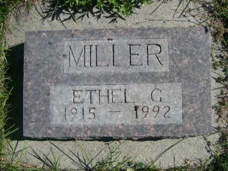 MILLER, ETHEL G. - Dawes County, Nebraska | ETHEL G. MILLER - Nebraska Gravestone Photos