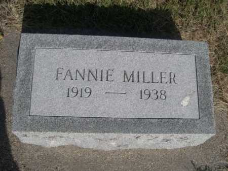 MILLER, FANNIE - Dawes County, Nebraska | FANNIE MILLER - Nebraska Gravestone Photos