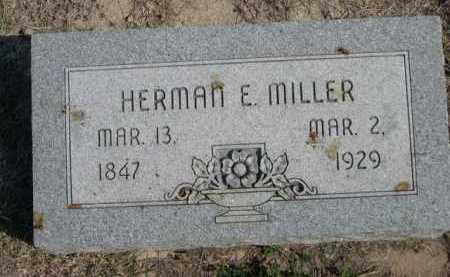 MILLER, HERMAN E. - Dawes County, Nebraska | HERMAN E. MILLER - Nebraska Gravestone Photos