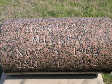 MILLER, HERBERT L. - Dawes County, Nebraska | HERBERT L. MILLER - Nebraska Gravestone Photos