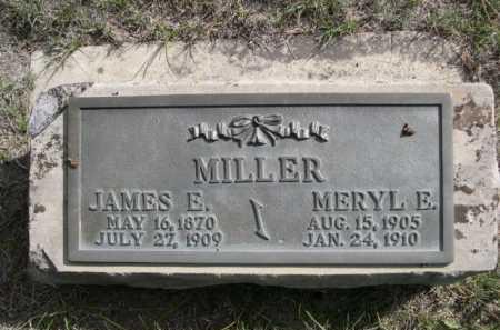 MILLER, JAMES E. - Dawes County, Nebraska | JAMES E. MILLER - Nebraska Gravestone Photos