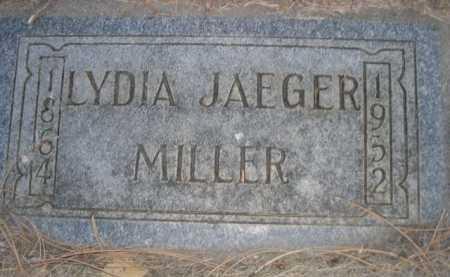 MILLER, LYDIA JAEGER - Dawes County, Nebraska | LYDIA JAEGER MILLER - Nebraska Gravestone Photos