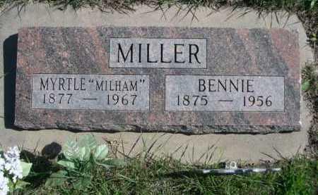 MILHAM MILLER, MYRTLE - Dawes County, Nebraska | MYRTLE MILHAM MILLER - Nebraska Gravestone Photos