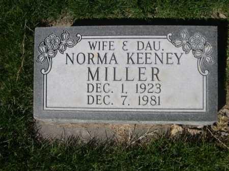 KEENEY MILLER, NORMA - Dawes County, Nebraska | NORMA KEENEY MILLER - Nebraska Gravestone Photos