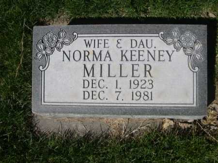 KEENEY MILLER, NORMA - Dawes County, Nebraska | NORMA KEENEY MILLER - Nebraska Gravestone Photos