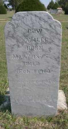 MILLER, PJW - Dawes County, Nebraska | PJW MILLER - Nebraska Gravestone Photos