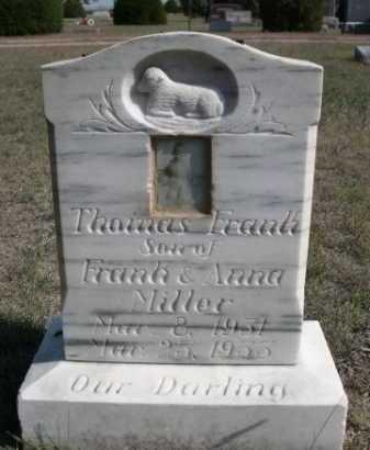 MILLER, THOMAS FRANK - Dawes County, Nebraska | THOMAS FRANK MILLER - Nebraska Gravestone Photos