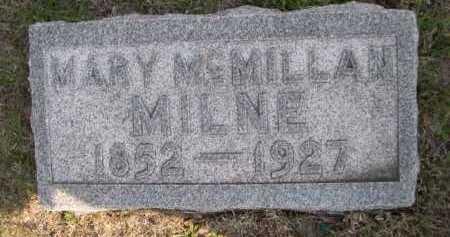 MILNE, MARY - Dawes County, Nebraska | MARY MILNE - Nebraska Gravestone Photos