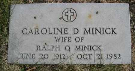 MINICK, CAROLINE D. - Dawes County, Nebraska | CAROLINE D. MINICK - Nebraska Gravestone Photos