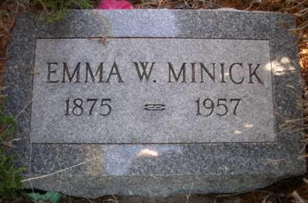 MINICK, EMMA W. - Dawes County, Nebraska | EMMA W. MINICK - Nebraska Gravestone Photos