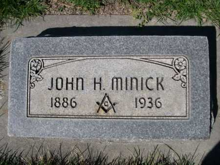 MINICK, JOHN H. - Dawes County, Nebraska   JOHN H. MINICK - Nebraska Gravestone Photos