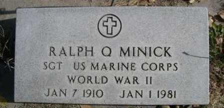 MINICK, RALPH O - Dawes County, Nebraska | RALPH O MINICK - Nebraska Gravestone Photos