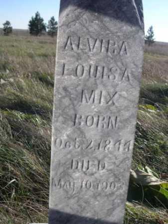 MIX, ALVIRA LOUISA - Dawes County, Nebraska   ALVIRA LOUISA MIX - Nebraska Gravestone Photos