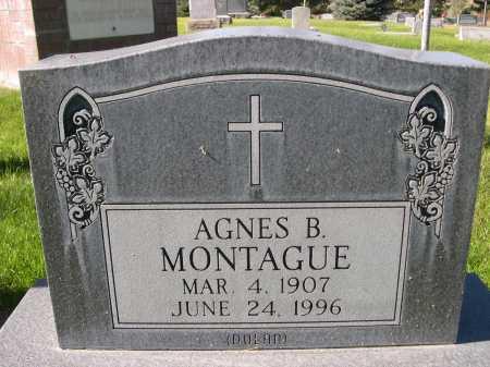 MONTAGUE, AGNES B. - Dawes County, Nebraska | AGNES B. MONTAGUE - Nebraska Gravestone Photos