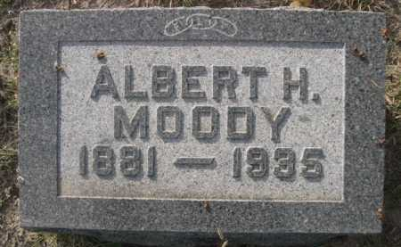 MOODY, ALBERT H. - Dawes County, Nebraska | ALBERT H. MOODY - Nebraska Gravestone Photos