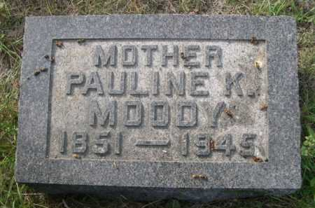 MOODY, PAULINE K. - Dawes County, Nebraska | PAULINE K. MOODY - Nebraska Gravestone Photos
