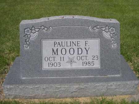 MOODY, PAULINE F. - Dawes County, Nebraska | PAULINE F. MOODY - Nebraska Gravestone Photos