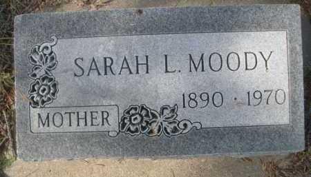 MOODY, SARAH L. - Dawes County, Nebraska | SARAH L. MOODY - Nebraska Gravestone Photos