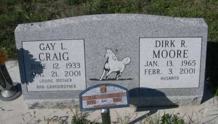 CRAIG MOORE, GAY L. - Dawes County, Nebraska | GAY L. CRAIG MOORE - Nebraska Gravestone Photos