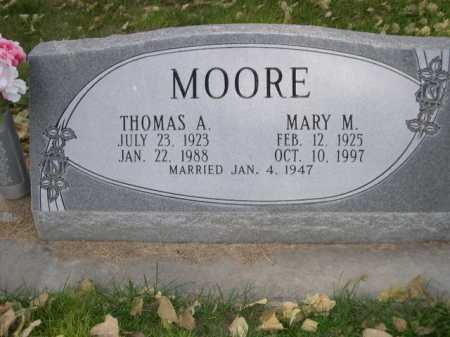 MOORE, MARY M. - Dawes County, Nebraska | MARY M. MOORE - Nebraska Gravestone Photos