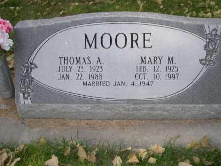 MOORE, THOMAS A. - Dawes County, Nebraska | THOMAS A. MOORE - Nebraska Gravestone Photos