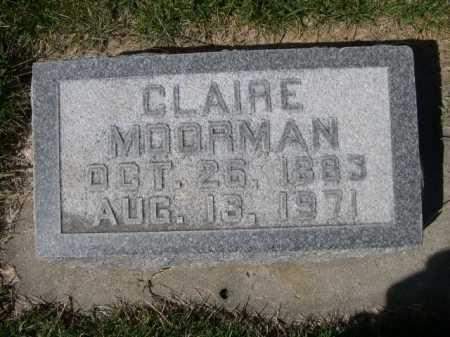 MOORMAN, CLAIRE - Dawes County, Nebraska   CLAIRE MOORMAN - Nebraska Gravestone Photos