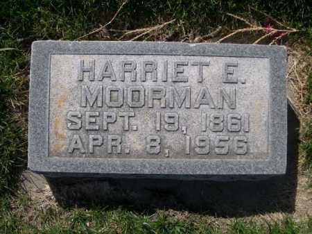 MOORMAN, HARRIET E. - Dawes County, Nebraska   HARRIET E. MOORMAN - Nebraska Gravestone Photos