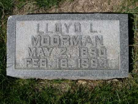 MOORMAN, LLOYD L. - Dawes County, Nebraska | LLOYD L. MOORMAN - Nebraska Gravestone Photos