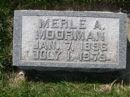 MOORMAN, MERLE A. - Dawes County, Nebraska   MERLE A. MOORMAN - Nebraska Gravestone Photos