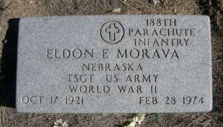 MORAVA, ELDON E. - Dawes County, Nebraska | ELDON E. MORAVA - Nebraska Gravestone Photos