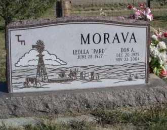 MORAVA, DON A. - Dawes County, Nebraska | DON A. MORAVA - Nebraska Gravestone Photos