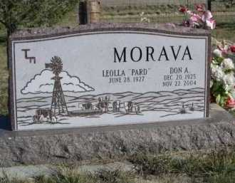 MORAVA, DON A. - Dawes County, Nebraska | DON A. MORAVA - Nebraska Gravestone Photos
