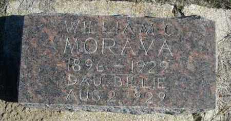 MORAVA, BILLIE - Dawes County, Nebraska   BILLIE MORAVA - Nebraska Gravestone Photos