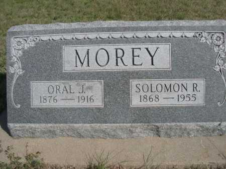 MOREY, ORAL J. - Dawes County, Nebraska | ORAL J. MOREY - Nebraska Gravestone Photos