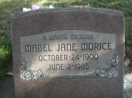 MORICE, MABEL JANE - Dawes County, Nebraska | MABEL JANE MORICE - Nebraska Gravestone Photos