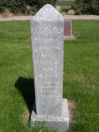 MORTON, CLAUDE M. - Dawes County, Nebraska | CLAUDE M. MORTON - Nebraska Gravestone Photos