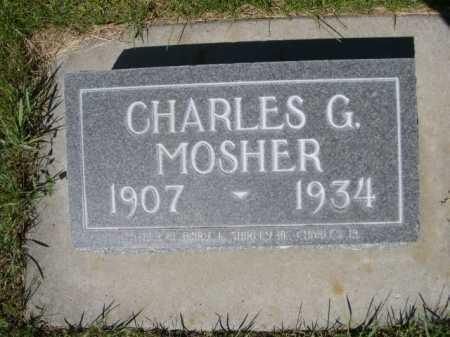 MOSHER, CHARLES G. - Dawes County, Nebraska | CHARLES G. MOSHER - Nebraska Gravestone Photos