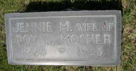 MOSHER, JENNIE M. - Dawes County, Nebraska | JENNIE M. MOSHER - Nebraska Gravestone Photos