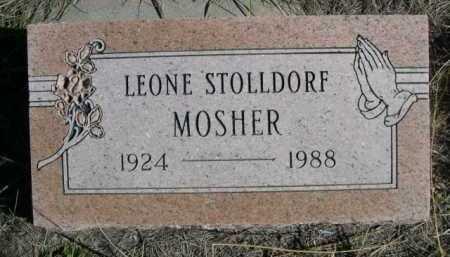 STOLLDORF MOSHER, LEONE - Dawes County, Nebraska | LEONE STOLLDORF MOSHER - Nebraska Gravestone Photos