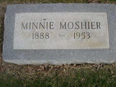 MOSHIER, MINNIE - Dawes County, Nebraska | MINNIE MOSHIER - Nebraska Gravestone Photos