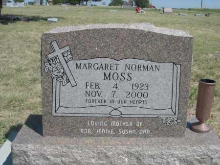 MOSS, MARGARET NORMAN - Dawes County, Nebraska   MARGARET NORMAN MOSS - Nebraska Gravestone Photos