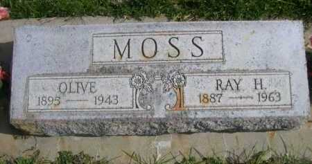 MOSS, OLIVE - Dawes County, Nebraska | OLIVE MOSS - Nebraska Gravestone Photos