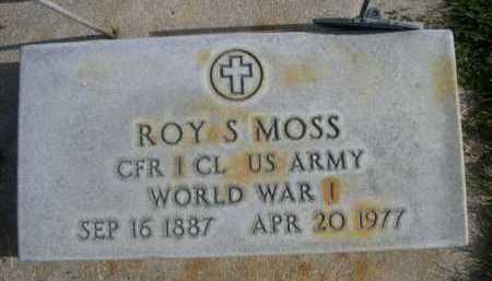 MOSS, ROY S. - Dawes County, Nebraska | ROY S. MOSS - Nebraska Gravestone Photos