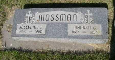 MOSSMAN, JOSEPHINE E. - Dawes County, Nebraska   JOSEPHINE E. MOSSMAN - Nebraska Gravestone Photos