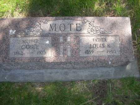 MOTE, LOUIS K. - Dawes County, Nebraska | LOUIS K. MOTE - Nebraska Gravestone Photos