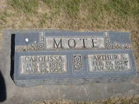 MOTE, ARTHUR S. - Dawes County, Nebraska | ARTHUR S. MOTE - Nebraska Gravestone Photos