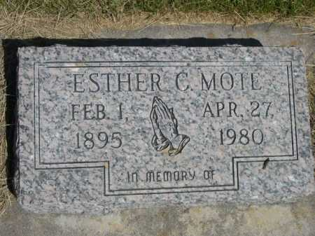 MOTE, ESTHER C. - Dawes County, Nebraska | ESTHER C. MOTE - Nebraska Gravestone Photos