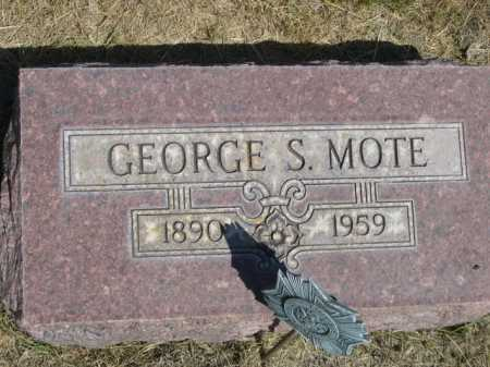 MOTE, GEORGE S. - Dawes County, Nebraska   GEORGE S. MOTE - Nebraska Gravestone Photos